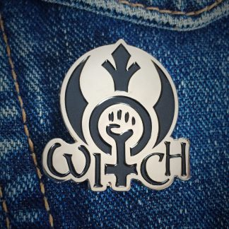Rebel Witch enamel pin