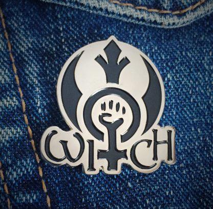 Rebel Witch enamel pin